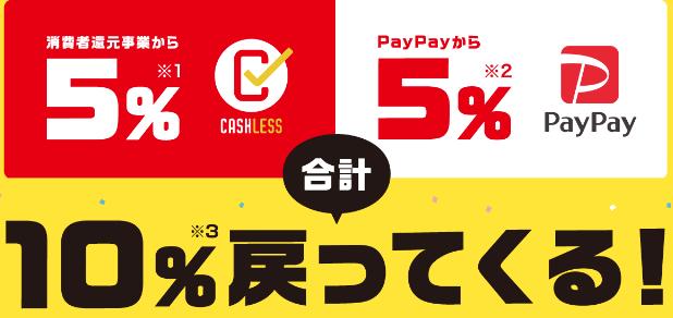 PayPay合計10%